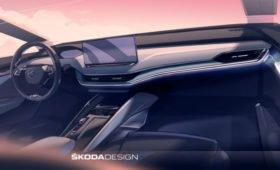 Кроссовер Skoda Enyaq: первые изображения салона. Саму модель тоже засветили