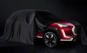 Новый кроссовер Nissan проехался на камеру: маленький, бюджетный, должен был стать Датсуном