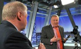 Жириновский и Миронов заключили пари на исход выборов в Госдуму